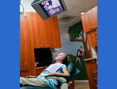 Watch a movie during your check-up.